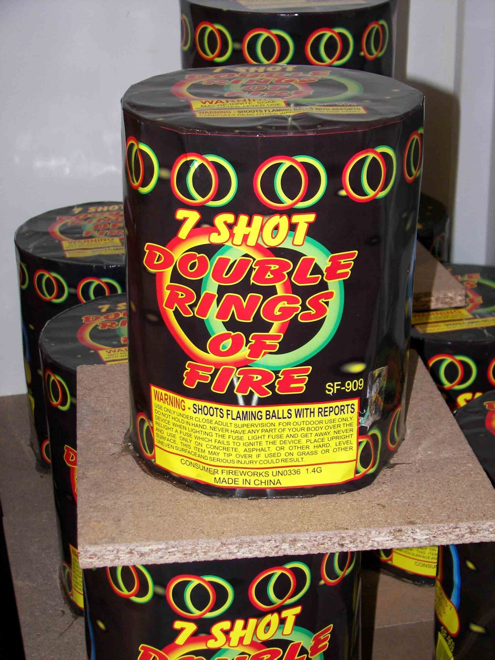 DOUBLE RINGS OF FIRE (Grand finale, 500 grams) Image